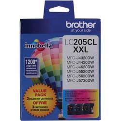 Brother LC2053PKS Innobella Super High Yield XXL Series 3-Color Ink Cartridge Set