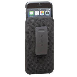 Aduro Shell Holster Combo Case for iPhone 6/6s with Kickstand and Belt Clip (Black)
