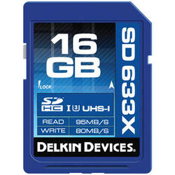 Delkin Devices 16GB Elite UHS-I SDHC Memory Card (Class 10 / U3)