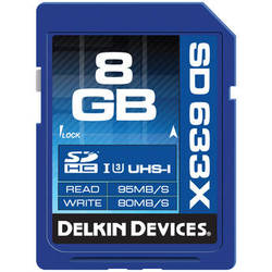 Delkin Devices 8GB Elite UHS-I SDHC Memory Card (Class 10 / U3)