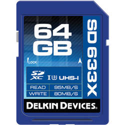Delkin Devices 64GB Elite UHS-I SDXC Memory Card (Class 10 / U3)