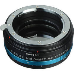 FotodioX Nikon F Lens to Micro Four Thirds Camera Vizelex ND Throttle Adapter