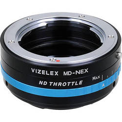 FotodioX Vizelex ND Throttle Adapter for Minolta MD Lenses to Sony E-Mount Cameras