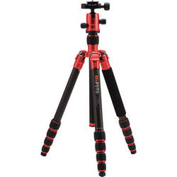 MeFOTO RoadTrip Carbon Fiber Travel Tripod Kit (Red)
