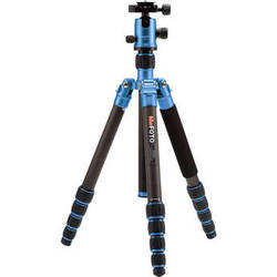 MeFOTO GlobeTrotter Carbon Fiber Travel Tripod Kit (Blue)