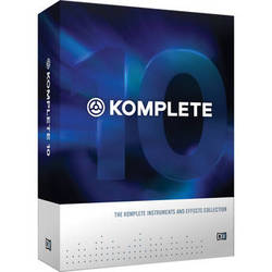 Native Instruments KOMPLETE 10 - Virtual Instruments and Effects Collection (Educational Discount 5-Pack)