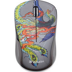 Verbatim Tattoo Series Wireless Notebook Blue LED Mouse (Phoenix)