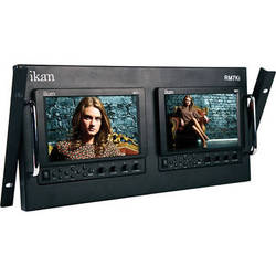 "ikan RM7Ki Dual Rack Mount Unit with Two VX7i 7"" 3G-SDI LCD Monitors"