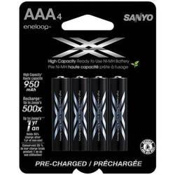 Sanyo Eneloop XX Rechargeable AAA Ni-MH Batteries (4-Pack)