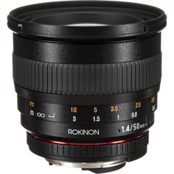 Rokinon 50mm f/1.4 AS IF UMC Lens for Nikon F Mount