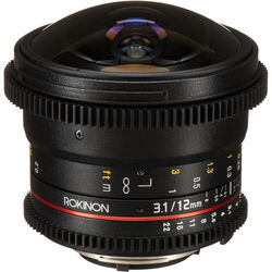 Rokinon 12mm T3.1 ED AS IF NCS UMC Cine DS Fisheye Lens for Nikon F Mount