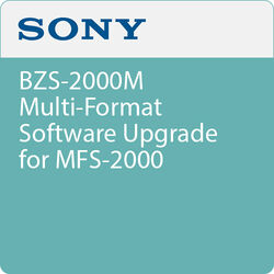 Sony BZS-2000M Multi-Format Software Upgrade for MFS-2000