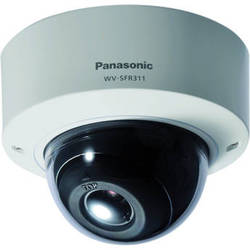 Panasonic Super Dynamic HD WV-SFR311 Vandal-Resistant PoE Dome Network Camera with Auto Back Focus (Sail White)
