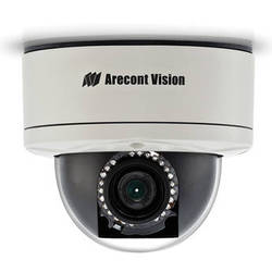 Arecont Vision MegaDome 2 AV10255PMIR-SH 10MP H.264 All-in-One Motorized P-Iris Lens Day/Night IR Indoor/Outdoor Dome IP Camera (4-8mm Wide Angle Lens)