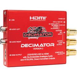 DECIMATOR DECIMATOR 2 3G/HD/SD-SDI to HDMI Converter with Built-In NTSC/PAL Downscaler & Analog Audio Outputs