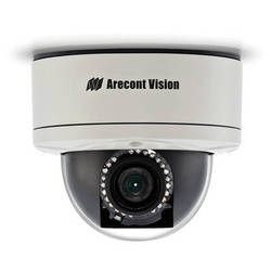 Arecont Vision MegaDome2 AV3256PMIR-SA 3MP H.264 All-in-One Motorized P-Iris Lens Day/Night IR Indoor/Outdoor Dome IP Camera with WDR & 2-Way Audio Support (3-9mm Wide Angle Lens)
