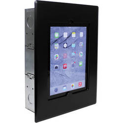 FSR Flush Mount with Back Box and Cover for iPad 2/3/4 (Black)