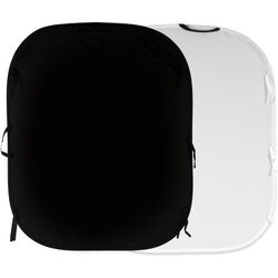 Lastolite Collapsible Reversible Background (5 x 6', Black/White)