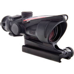 Trijicon 4x32 ACOG Dual-Illuminated Riflescope (Matte Black, 300 Blackout Red Crosshair)