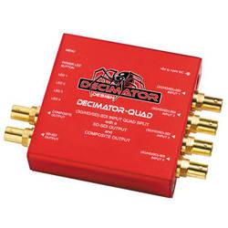 DECIMATOR QUAD 4 Channel Multi-Viewer with SDI & Composite Outputs