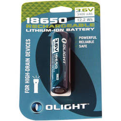 Olight 18650 Rechargeable Lithium-Ion Battery (3.6V, 3400mAh)