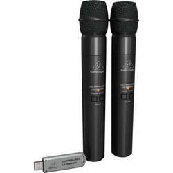 Behringer Ultralink ULM202-USB 2.4 GHz Dual Wireless Microphone System