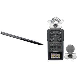 Sennheiser MKH-416 Short Shotgun Interference Tube Mic & Zoom H6 Handy Recorder Kit