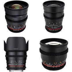 Rokinon Rokinon T1.5 Cine Lens Bundle for Nikon F-Mount