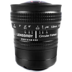 Lensbaby 5.8mm f/3.5 Circular Fisheye Lens for Micro Four Thirds
