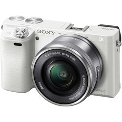 Sony Alpha a6000 Mirrorless Digital Camera with 16-50mm Lens (White)