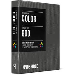 Impossible Color Instant Film for Polaroid 600 Cameras (Black Frame, 8 Exposures)