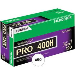 Fujifilm Fujicolor PRO 400H Professional Color Negative Film (120 Roll Film, 60 Pack)