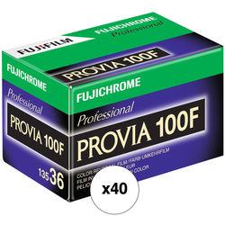 Fujifilm Fujichrome Provia 100F Professional RDP-III Color Transparency Film (35mm Roll Film, 36 Exposures, 40 Pack)