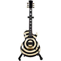 AXE HEAVEN Zakk Wylde Signature Cream Bullseye Miniature Guitar Replica Collectible