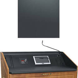 """Middle Atlantic L5 Turret Lectern Wood Finishing Kit for Presenter's Panel Frame (Contemporary, Slate, 23"""" width)"""