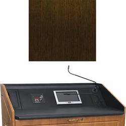 """Middle Atlantic L5 Turret Lectern Wood Finishing Kit for Presenter's Panel Frame (Contemporary, Wenge, 43"""" width)"""