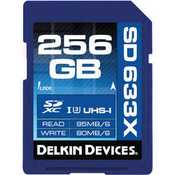Delkin Devices 256GB Elite UHS-I SDXC Memory Card (Class 10 / U3)