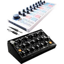 Moog Minitaur Analog Bass Synthesizer with Arturia Beatstep Kit
