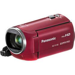 Panasonic HC-V130E Full HD Camcorder (PAL, Red)