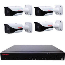 Honeywell Performance Series 4-Ch 2TB NVR with Four IP Bullet Cameras