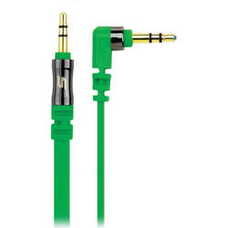 Scosche flatOUT - Flat Audio Cable (Green, 3')