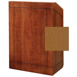 "Da-Lite Providence 25"" Stacking Lectern with Sound System (Standard Medium Oak Veneer)"