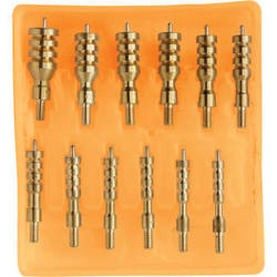 Hoppes 13-Piece Brass Cleaning Jag Kit (Clamshell Packaging)