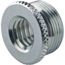 "K&M 217 Thread Adapter, 3/8"" Female Thread, 5/8"" 27 Gauge Male Thread (Zinc-Plated)"