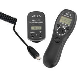 Vello Wireless ShutterBoss II Remote Switch with Digital Timer for Sony Multi-Terminal
