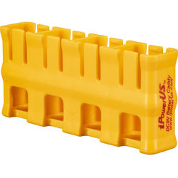 STORACELL SlimLine 9V Battery Holder (Yellow)