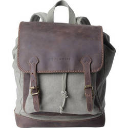 Kelly Moore Bag Pilot Backpack (Sand Canvas/Brown Trim)
