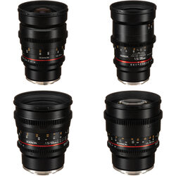 Rokinon 24, 35, 50, 85mm T1.5 Cine DS Lens Bundle for Sony E-Mount