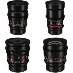 Rokinon 24, 35, 50, 85mm T1.5 Cine DS Lens Bundle for Micro Four Thirds Mount