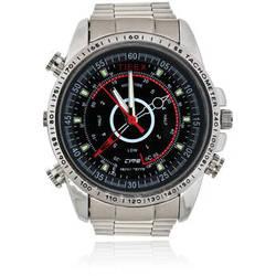 BrickHouse Security HD Water-Resistant Spy Watch (Silver)